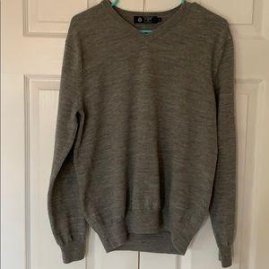J. Crew men's gray V neck sweater